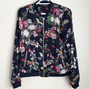 Zara Trafalac Outerwear floral bomber jacket